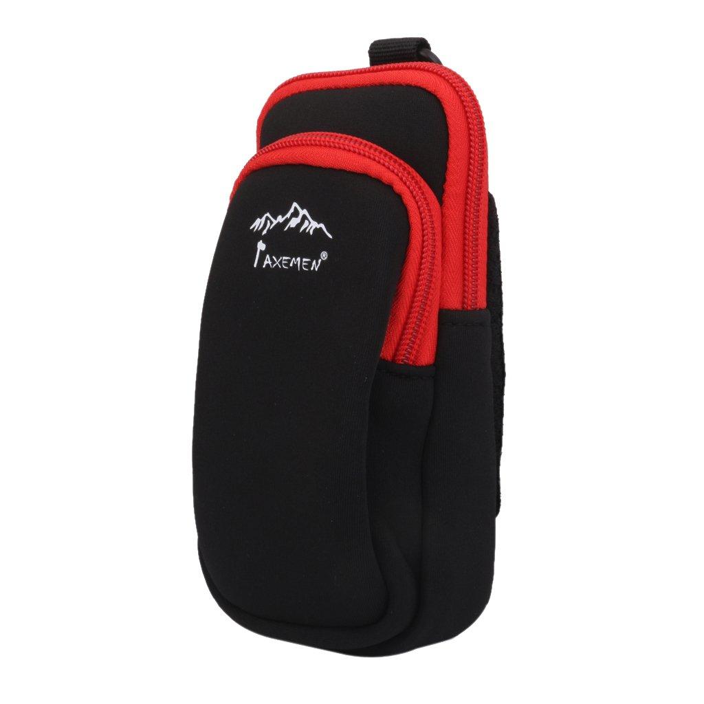 Senderismo Escalada doble cremallera teléfono móvil bolsa soporte con Clip Generic