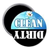 2 Pcs Clean Dirty Dishwasher ReferencesPinback Button 2.25' Magnet