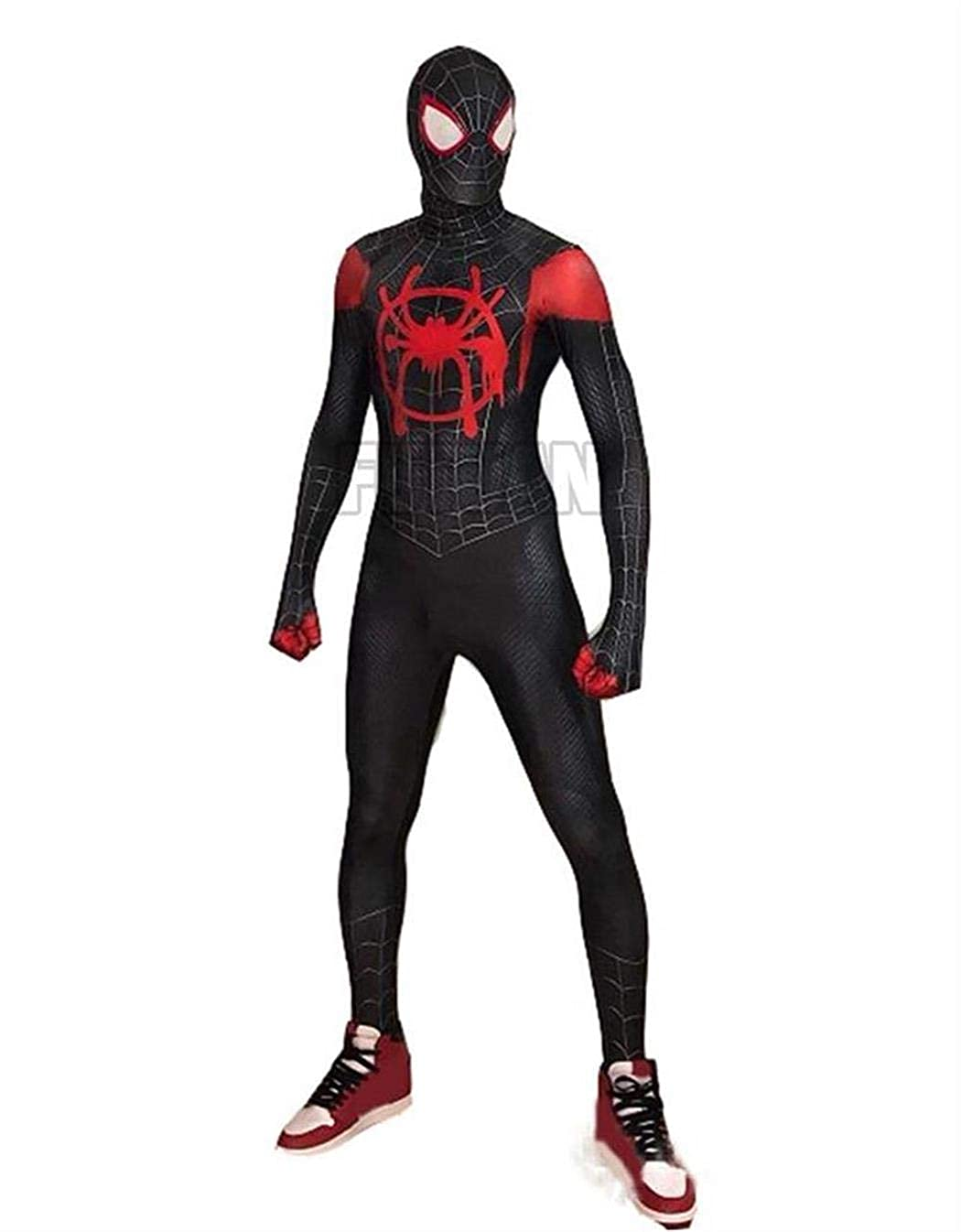FUTUAN Into The Spideverse Miles Cosplay Costume Into The Spideverse Costume Adult/Kid 3D Style