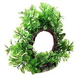 """Uxcell a11112200ux0255 Artificial Plastic Aquarium Design Fish Tank Water Plant Ornament 6"""" Curve Green"""