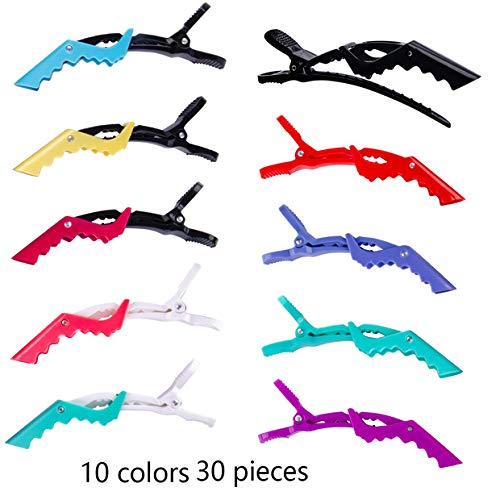 Cehomi 30 Pcs Styling Alligator Hair Clips Salon Clips-Professional Non-Slip Multicolored Plastic Duck Teeth Hair Clips with Anti-slip Ergonomic design?Hair grip for Women and Girls - 10 colors