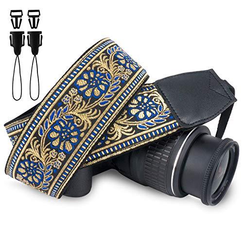 Wolven Kamera-Schultergurt, Vintage-Stil, Jacquard, kompatibel mit allen DSLR/SLR/Digitalkameras (DC)/Sofortkamera…