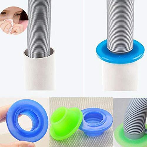 Queta - Anillo de Sellado antiolores para tubería de Coser con Control de plagas, desagüe para Lavadora, Silicona, Azul, 6,5 cm: Amazon.es: Hogar