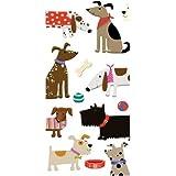 2 packs of Caspari Paper Pocket handbag Tissues - Woof Dogs