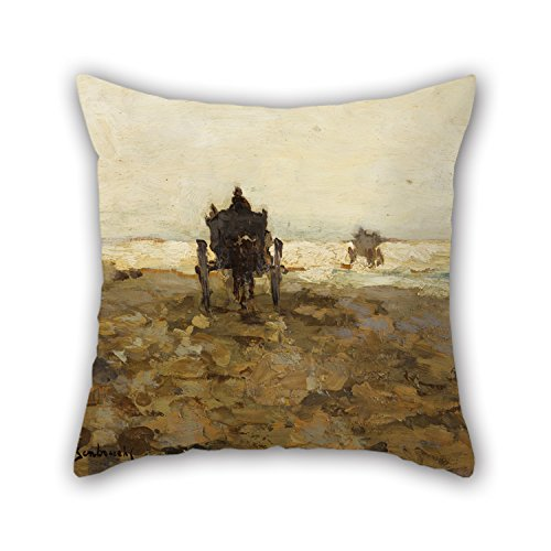 20 X 20 Inches / 50 By 50 Cm Oil Painting Jan Hendrik Weissenbruch - Shell Cart Cushion Covers ,two Sides Ornament And Gift To Dance Room,relatives,bench,shop,car Seat,club ()