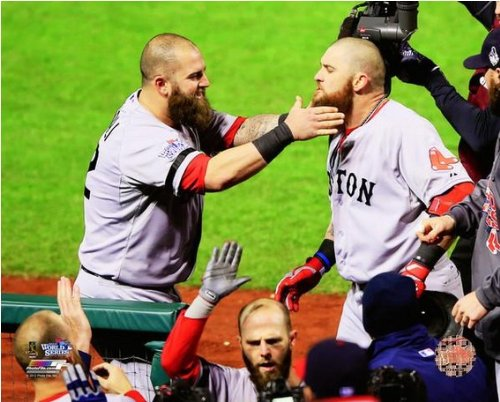 Mike Napoli   Jonny Gomes Boston Red Sox 2013 World Series Photo 8X10