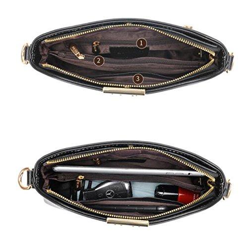 La La New O Cotidiana Impermeable Para Sintético Tote Diseño C Cuero Exclusivo Popular Vida Oficina Handbags Compartimentos Con Fashion wCz05vq