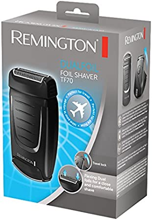 Remington TF70 - Afeitadora eléctrica de viaje (doble lámina ...