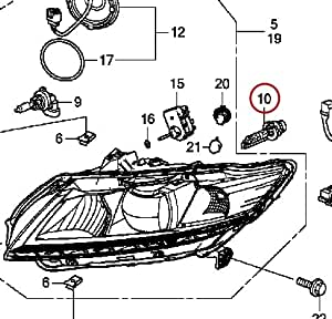 Honda Headlight Bulb on 1995 honda civic tail light wiring diagram