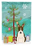 Cheap Caroline's Treasures BB4261GF Merry Christmas Tree Bull Terrier Dark Brindle Garden Flag, Small, Multicolor