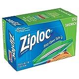 Ziploc Sandwich Bags, Pack of 150, 6.5 x 5.875-Inch (16.5 cm x 14.9 cm)