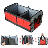 Car Trunk Organizer Collapsible Cargo Grocery Storage Container with Handles, Durable Multipurpose Foldable Auto Car Box Non-skid Waterproof Button for SUV Car Trunk Vehicle Toy Home Father's Day Gift