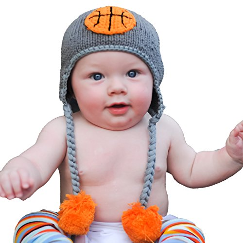 Huggalugs Baby and Toddler Boys Girls Basketball Beanie Hat L