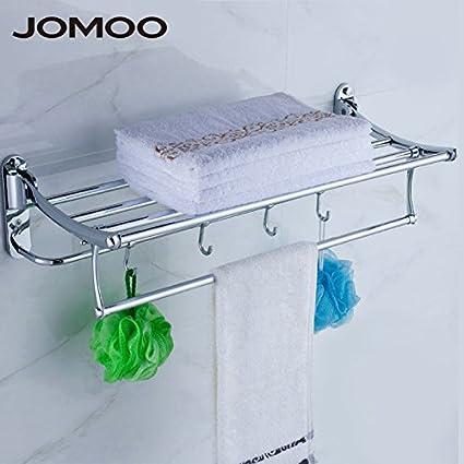 Accesorios de baño,Decoración Baño Home Essentials?toalla gruesa Portavasos plegable de acero inoxidable