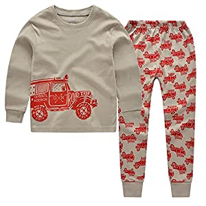 """CNBABY """"Mountain Cars"""" Toddler Pajamas For Boys (2-7Years)"""