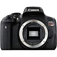 Canon EOS Rebel T6i SLR Camera 18-55mm f/3.5-5.6 Lens Deluxe Bundle, 58mm 2x Lens, Wide Angle Lens , Tripod , Flash , UV Kit , Sandisk 32GB by Canon