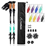 TrailBuddy Trekking Poles - 2-pc Pack Adjustable Hiking or Walking...