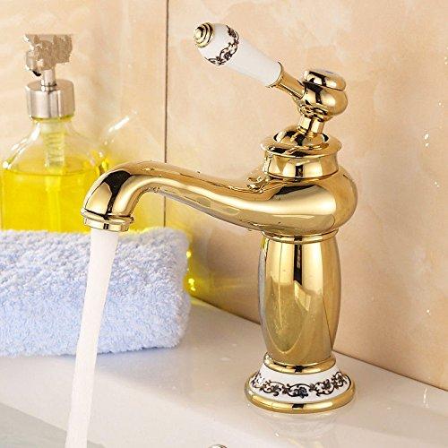 NewBorn Faucet Wasserhähne Warmes und Kaltes Wasser Größe Qualität der Kupfer antik Coole Retro Bad Gold