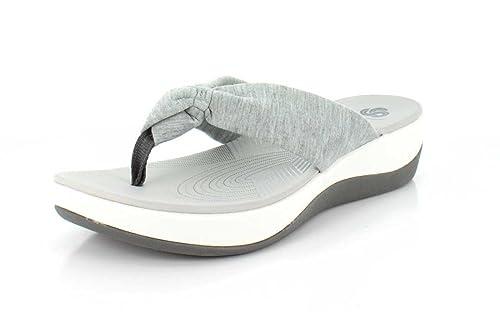 f13699966de0 Image Unavailable. Image not available for. Colour  CLARKS Womens Arla  Glison Grey Thong Sandal ...