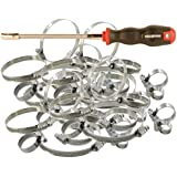 Colliers INOX type SERFLEX - Assortiment de 60 colliers + clé flexible