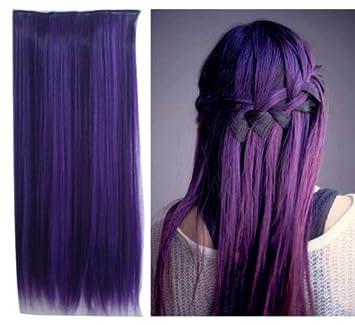 Amazon uniwigs dark purple color clip in hair extension 60cm uniwigs dark purple color clip in hair extension 60cm length straight for fashion cool women tbe0025 pmusecretfo Choice Image