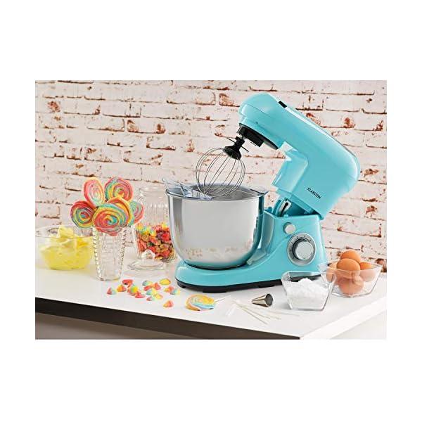 Klarstein Bella Pico 2G - Robot da Cucina, Mixer, Impastatrice, 1200 W / 1,6 PS, 6 Livelli, Sistema di Miscelazione… 2