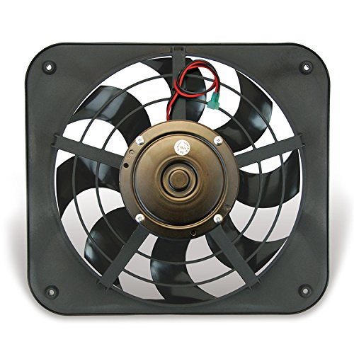 Flex-a-lite 133 Lo-Profile S-Blade Electric Pusher Fan ()