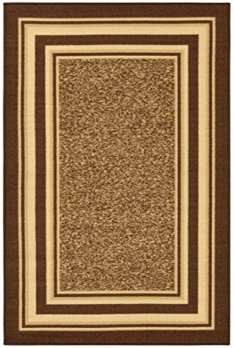Ottomanson OTH2318-5X7 Area Rug, 5' X 6'6'', Brown by Ottomanson