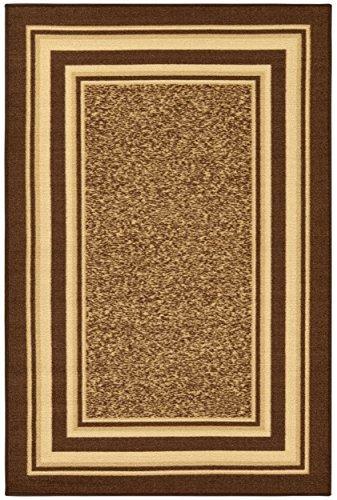 Ottomanson Ottohome Collection Contemporary Bordered Design Non-Skid (Non-Slip) Rubber Backing Area Rug, 3'3