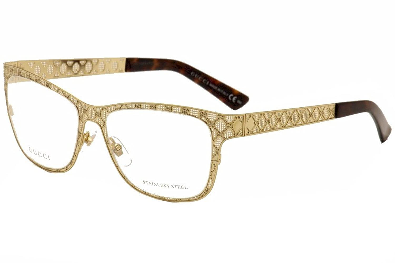 Amazon.com: GUCCI Eyeglasses 4267 0J5g Gold 54MM: Shoes
