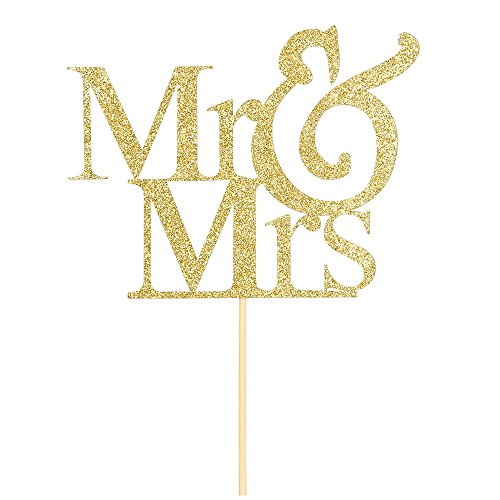(Mr and Mrs Cake Topper Bride And Groom Sign Wedding Engagement Cake Toppers)