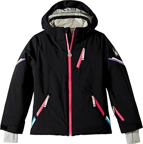 Spyder Kids Girl's Pandora Jacket (Big Kids) Black 12 by Spyder