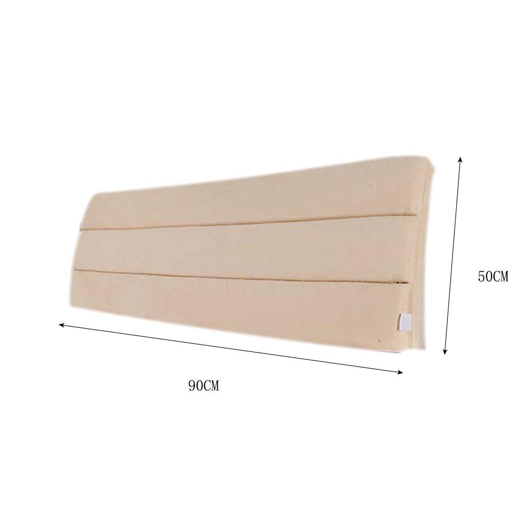LQQGXL,Cushion, Cloth Bedside Cushion Solid Wood Bedside Cover Sets Bedside Soft Case Sponge Big Cushions Backrest Pad Cover Detachable Washable Back Cushion ( Color : F ) by LQQGXL (Image #2)