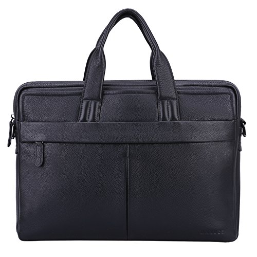 Banuce Men's Genuine Leather Soft Briefcase Tote Laptop Bag for 13 inch Business Shoulder Messenger Bag by Banuce
