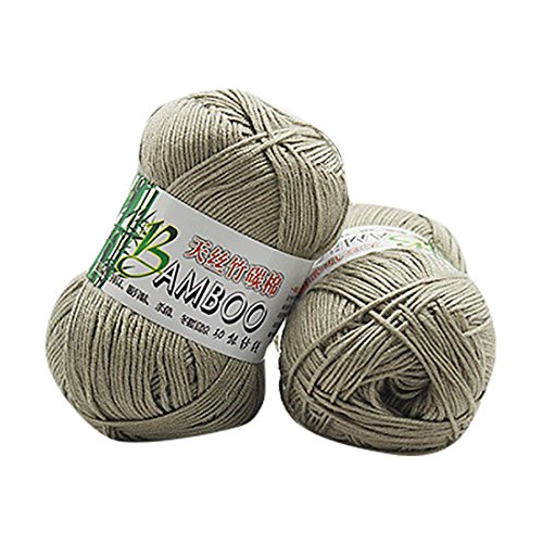 Molyveva Assorted Colors Bonbons Yarn Skeins - Soft Tencel Bamboo Cotton Yarn Skeins - Perfect for Any Knitting and Crochet Mini Project - 1 Piece (Dark Khaki)