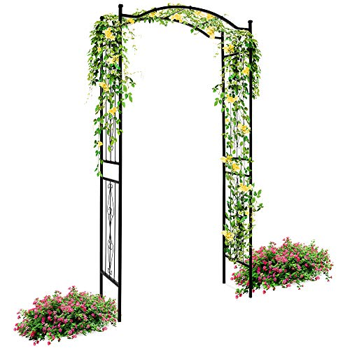 Best Choice Products Steel Decorative Garden Arch Arbor Trellis for Climbing Plants w/ 92in Height, Wire Lattice