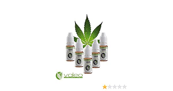 5x10ml e-Líquidos Sabor Marihuana (NO contiene THC) para cigarrillos electrónicos Valeo SIN nicotina SIN tabaco SIN THC - e liquid para vapear de Alemania ...