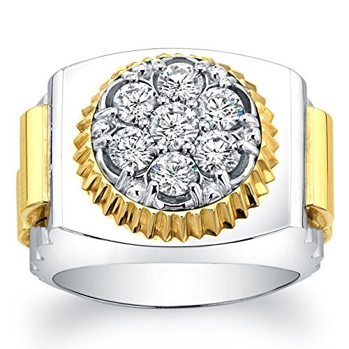 (Men's wedding band Watch-style ring 1.00 TCW)