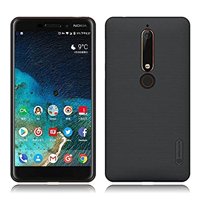 Nokia 6.1 (2018) Case, Nillkin [With HD Screen Protector] Frosted Shield Anti Fingerprints Hard PC Case Back Cover for Nokia 6.1 (2018) (Black) from TopACE.US