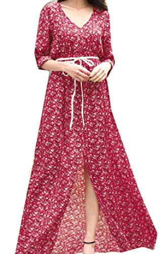 Women Cut Dress Bandage Comfy Line Out A Print Flared Chiffon Oversized Pattern1 aqEEdv