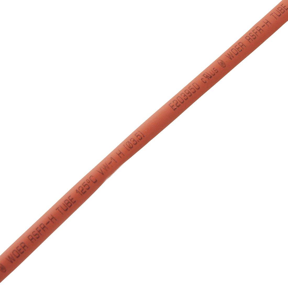 3.5mm Diameter Red Heat Shrinkable Tube Shrink Tubing 10 Meters Sourcingmap a12032000ux0398