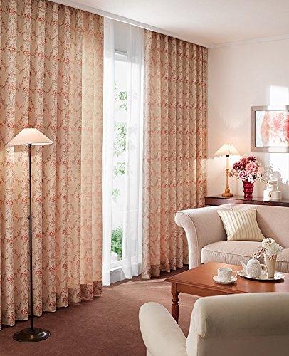東リ 繊細な織りで表現したフェミニンなデザイン フラットカーテン1.3倍ヒダ KSA60110 幅:150cm ×丈:290cm (2枚組)オーダーカーテン   B0784X1MG9
