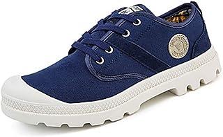 TTSHOES Femme Chaussures Polyuréthane Printemps/Automne Confort/Semelles Légères Chaussures D'athlétisme Marche Talon Plat Bout Rond Lacet,Blue,US8.5/EU39/UK6.5/CN40