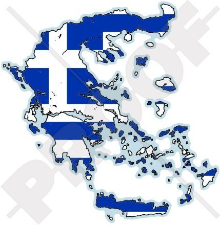 - GREECE Greek Map-Flag Hellas Hellenic 4