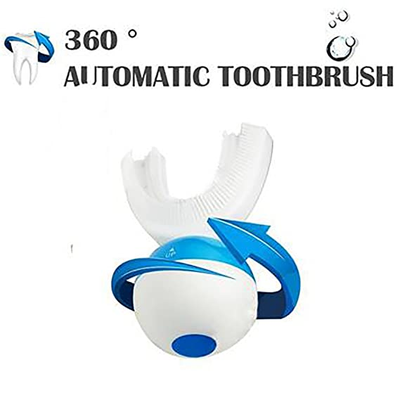 Amazon.com: Ultrasonic Electric Lazy Toothbrush Teeth Whitening Wireless Rechargeable 360 Automatic Toothbrush Double Toothbrush: Sports & Outdoors