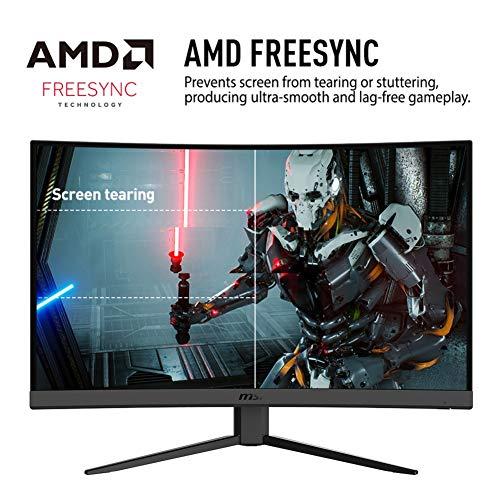 """MSI Optix G27CQ4 - Monitor Gaming Curvo 27"""" WQHD 165Hz ( 2560x1440 , 1ms de respuesta, ratio 16:9, panel VA, brillo 250nits, antiglare) negro"""