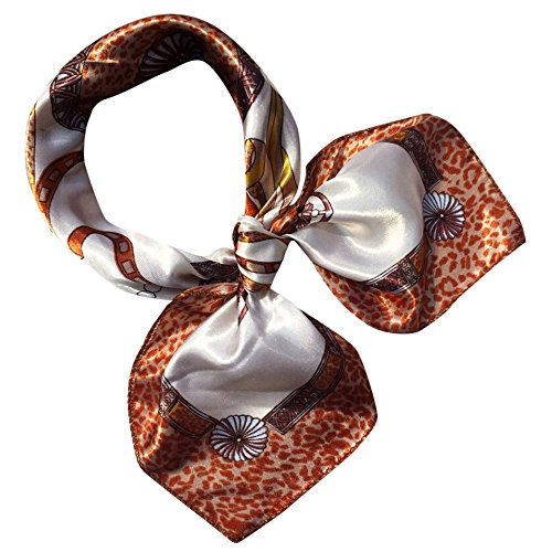 WUAI Women's Fashion Summer Scarf Neck Gaiter Satin Square Silk Like Hair Scarves and Wraps Headscarf for Sleeping