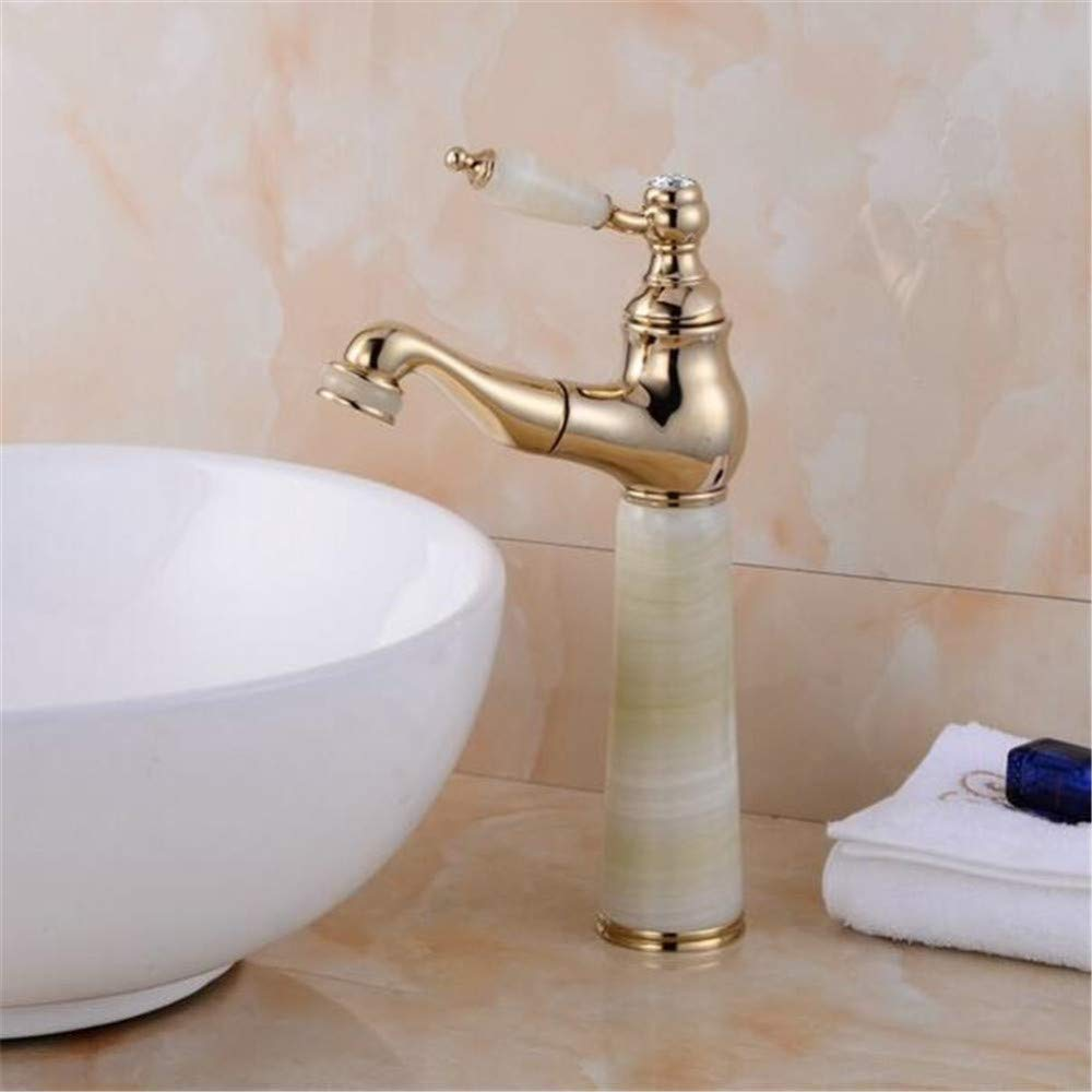 Faucetbasin Faucet Bathroom Sink Faucet gold Copper Hot and Cold Faucet Basin Pull Faucet Over Counter Sink Bathroom Sink Pull Telescopic Faucet