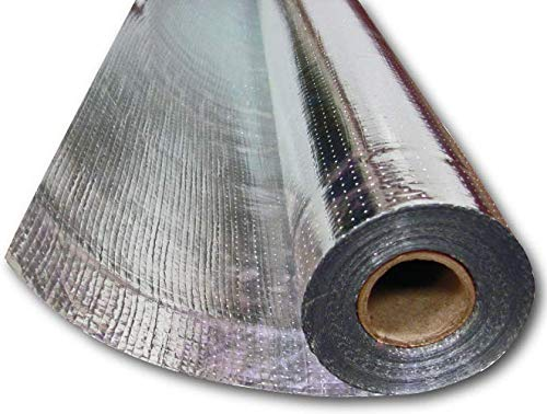 US Energy Radiant Barrier Insulation Aluminum Foil Roll 1000 SQFT (4ft x 250ft) Reflective Insulation Solar Attic Radiant Heat Foil Barriers (For Attic, House Wraps, Commercial) Tear Proof (Insulation Foil Lined)