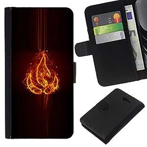 Stuss Case / Funda Carcasa PU de Cuero - Elemento fuego - Sony Xperia M2